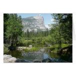 Opinión del lago mirror en el parque nacional de tarjeta pequeña