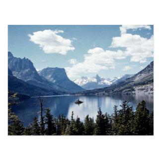 Opinión del lago mountain rocosa, Parque Nacional  Postal