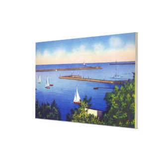 Opinión del lago Ontario Lienzo Envuelto Para Galerias