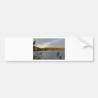Opinión del lago pegatina para auto