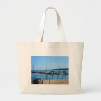 Opinión del lago sailBoats del puerto del lago de Bolsa Tela Grande
