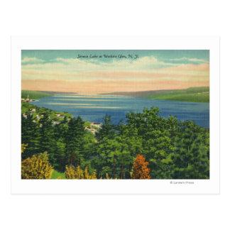 Opinión del lago Seneca Tarjetas Postales