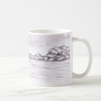 Opinión del mar taza básica blanca