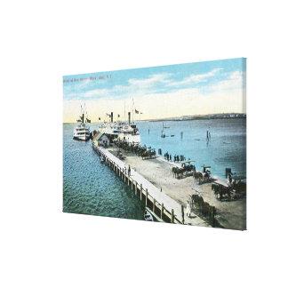 Opinión del muelle en el nuevo puerto impresiones de lienzo