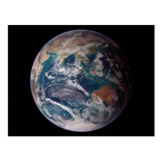 Opinión del Océano Índico de la tierra del planeta Postal