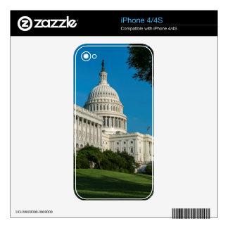 Opinión del oeste del edificio del capitolio skins para eliPhone 4S