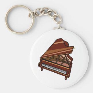 Opinión del ojo de pájaro de Brown del piano de co Llavero Personalizado