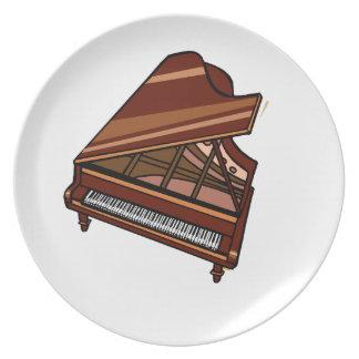 Opinión del ojo de pájaro de Brown del piano de co Plato De Cena