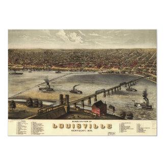 """Opinión del ojo de pájaro de Louisville, Kentucky Invitación 5"""" X 7"""""""