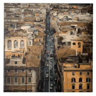 Opinión del ojo de pájaro de Roma, Italia Azulejos