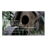 Opinión del ojo del insecto de la casa de madera d tarjetas de visita
