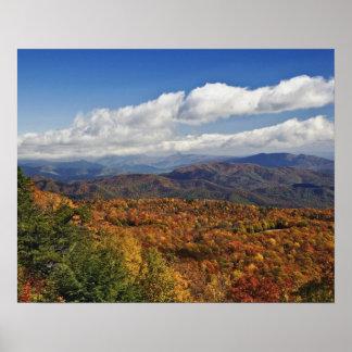 Opinión del otoño de montañas apalaches meridional impresiones
