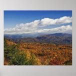 Opinión del otoño de montañas apalaches meridional póster