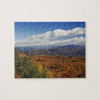 Opinión del otoño de montañas apalaches meridional puzzle