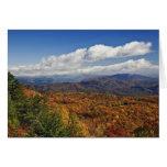 Opinión del otoño de montañas apalaches meridional tarjetas