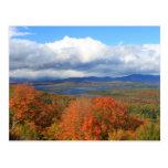 Opinión del otoño del lago Rangeley Postal