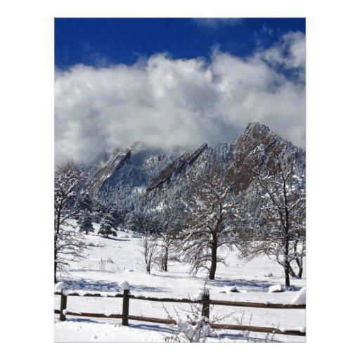 Opinión del paisaje de Boulder Colorado Flatirons  Plantillas De Membrete