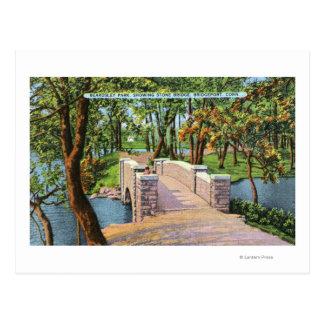 Opinión del parque de Beardsley del puente de Tarjeta Postal