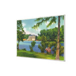 Opinión del parque de Cazenovia del lago y del cas Impresión En Lona