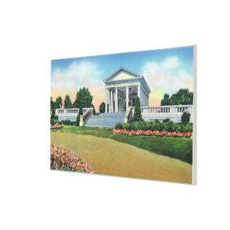 Opinión del parque de la colina de la universidad  impresión en lienzo estirada