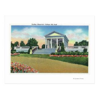 Opinión del parque de la colina de la universidad postales