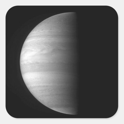 Opinión del primer del planeta Júpiter Pegatina Cuadrada