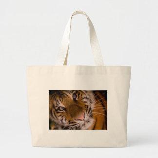 Opinión del primer del tigre bolsa tela grande
