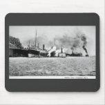 Opinión del puerto, Frankfort, Michigan Tapete De Ratones