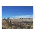 Opinión del rancho de la hierba seca de noviembre tarjeta de felicitación