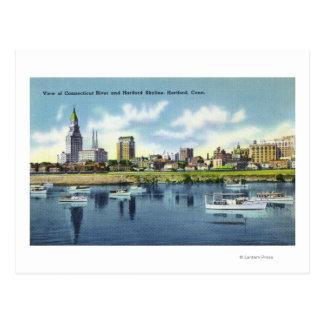 Opinión del río Connecticut del horizonte de Tarjeta Postal