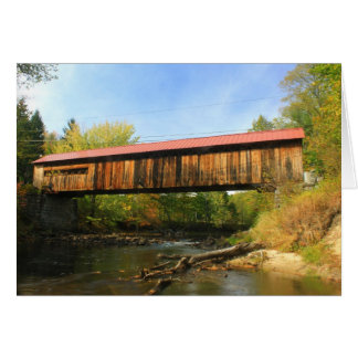 Opinión del río de Winchester NH del puente Tarjeta De Felicitación