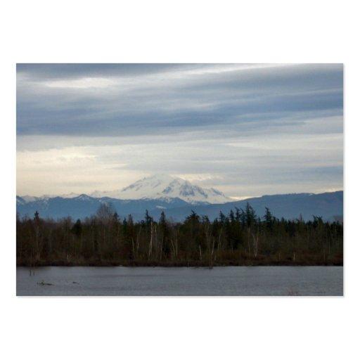 Opinión del río del invierno tarjeta de visita