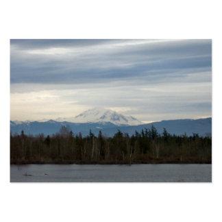 Opinión del río del invierno tarjetas de visita grandes