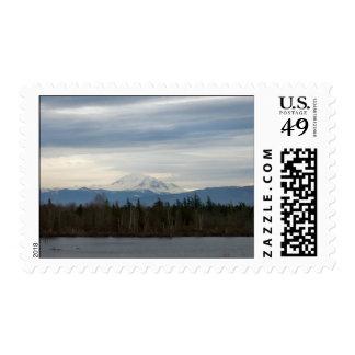 Opinión del río del invierno timbres postales