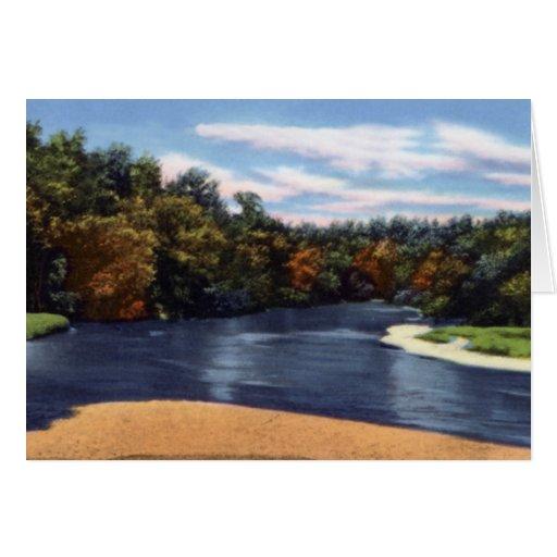 Opinión del río en la eminencia Missouri Tarjeta De Felicitación