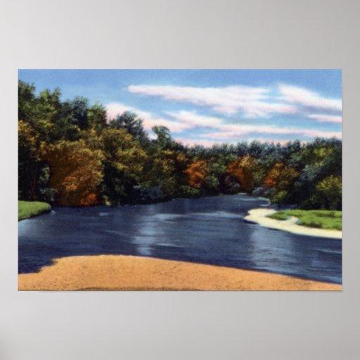 Opinión del río Missouri de la eminencia Posters