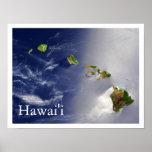 Opinión del satélite de las islas hawaianas poster