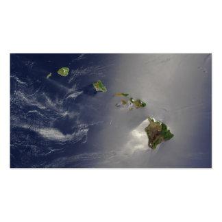 Opinión del satélite de las islas hawaianas plantilla de tarjeta personal