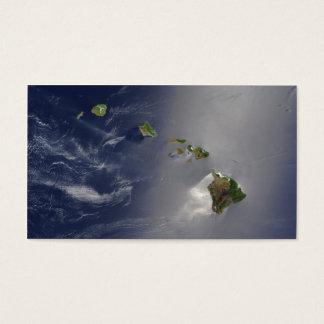 Opinión del satélite de las islas hawaianas tarjetas de visita