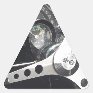 Opinión del tablero de instrumentos de una pegatina trianguloada