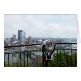 Opinión del turista de Pittsburg Tarjeta De Felicitación
