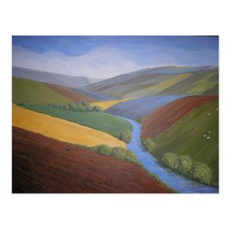 Opinión del valle de Exe de Janet Davies, Devon Postal