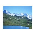 Opinión del valle de la montaña lienzo envuelto para galerias