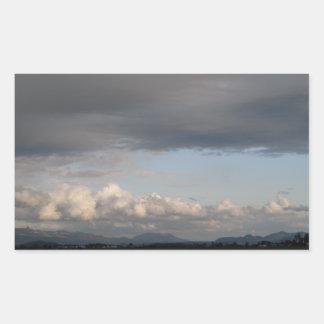 Opinión del valle de Skagit Pegatina Rectangular
