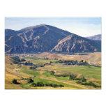 Opinión del verano del área de Ketchum/Sun Valley Impresión Fotográfica