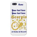 Opinión del zodiaco Scorpio-Design-1 debajo de ind iPhone 5 Carcasas