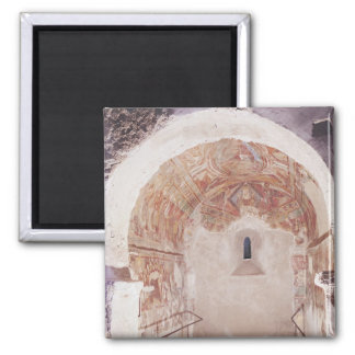 Opinión el coro con los frescos imán cuadrado