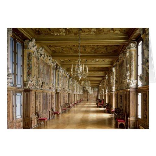 Opinión el Galerie Francois I, 1528-40 Tarjeton