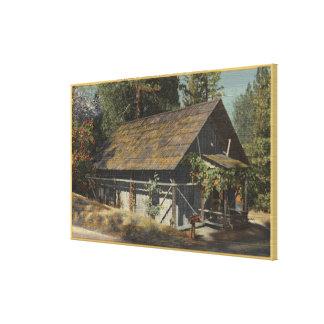 Opinión el James W. Marshall Cabin Impresión En Lona Estirada