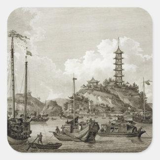 Opinión el Shan de Tchin, o isla de oro, en la Y Pegatinas Cuadradas Personalizadas
